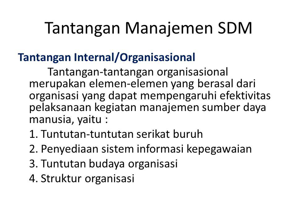Tantangan Manajemen SDM