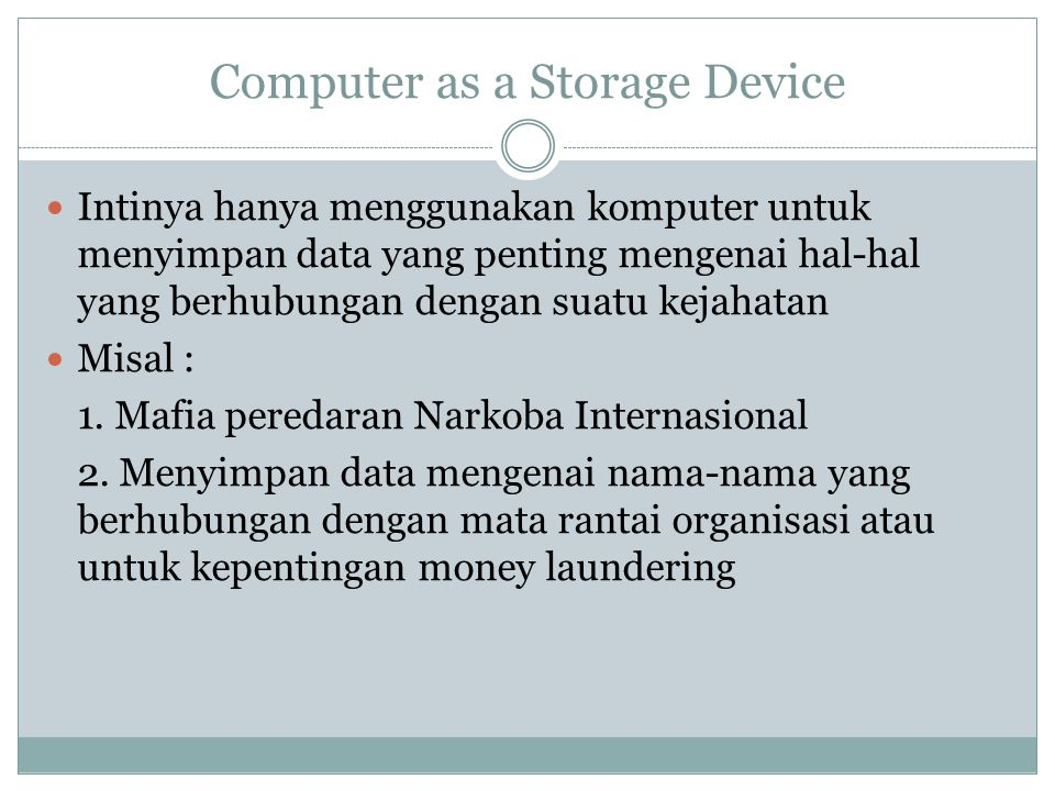 Computer as a Storage Device