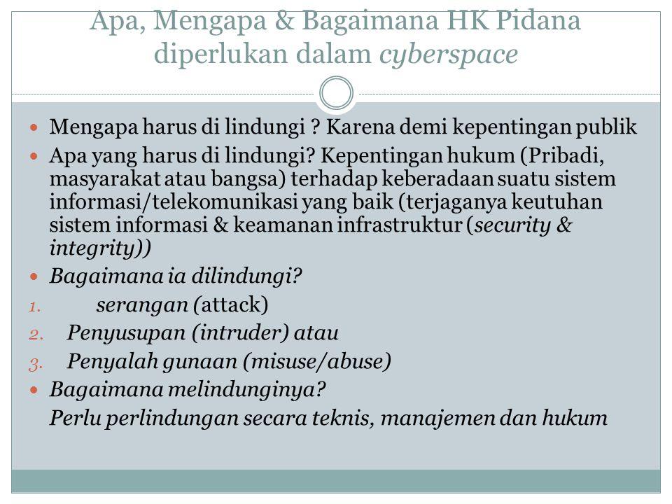 Apa, Mengapa & Bagaimana HK Pidana diperlukan dalam cyberspace