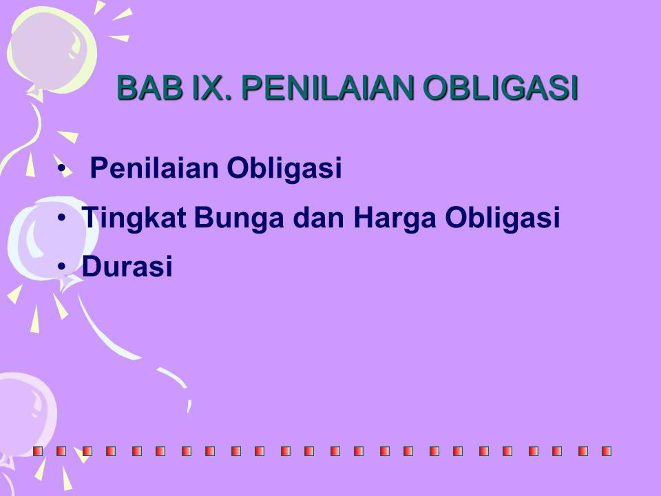 BAB IX. PENILAIAN OBLIGASI