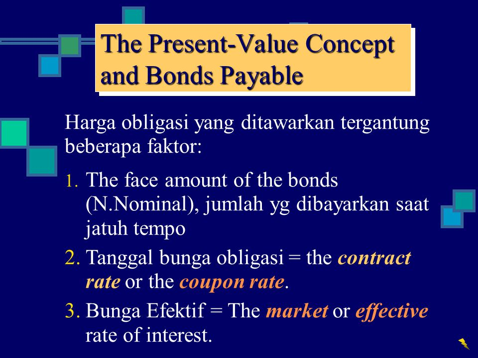 The Present-Value Concept and Bonds Payable