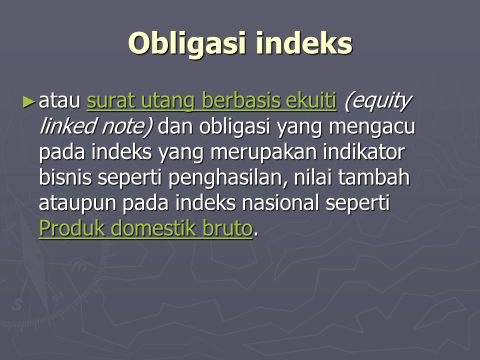 Obligasi indeks