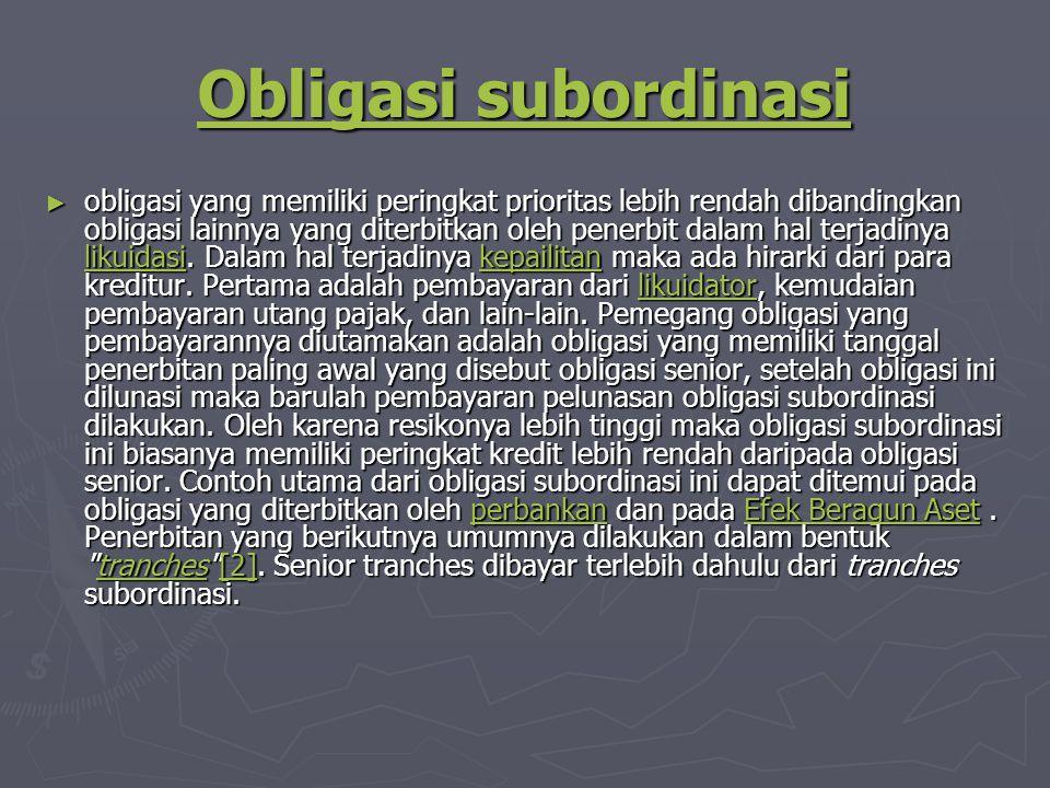 Obligasi subordinasi