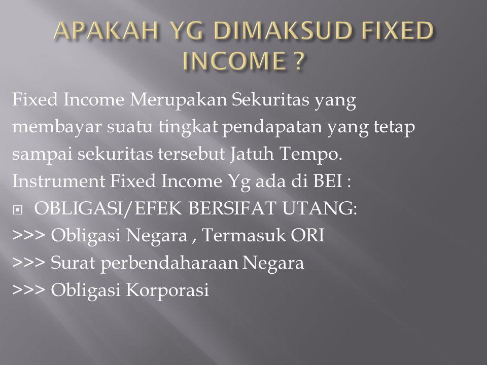 APAKAH YG DIMAKSUD FIXED INCOME