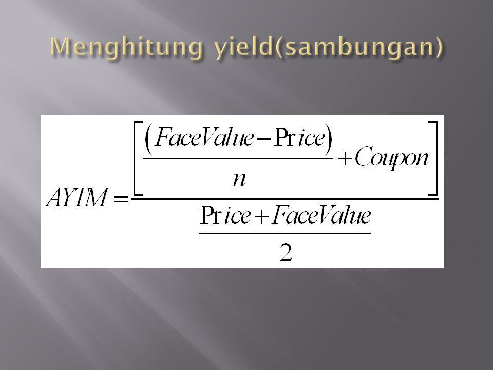 Menghitung yield(sambungan)