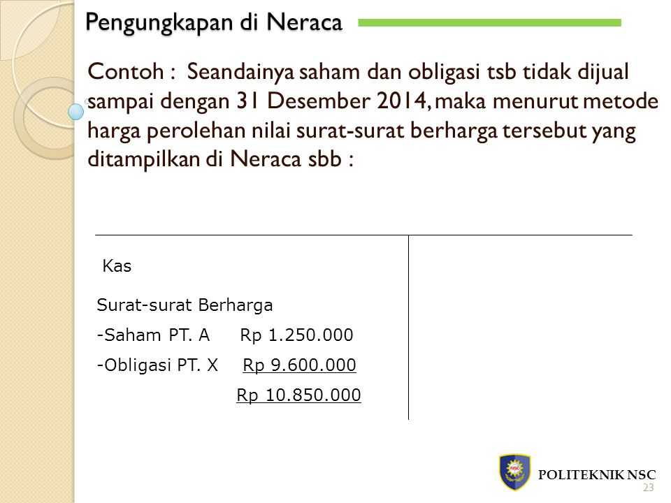 Pengungkapan di Neraca
