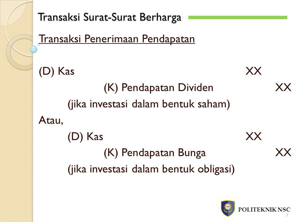Transaksi Surat-Surat Berharga