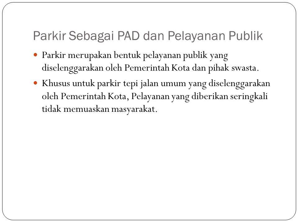 Parkir Sebagai PAD dan Pelayanan Publik