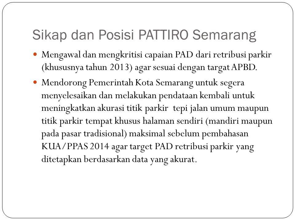 Sikap dan Posisi PATTIRO Semarang