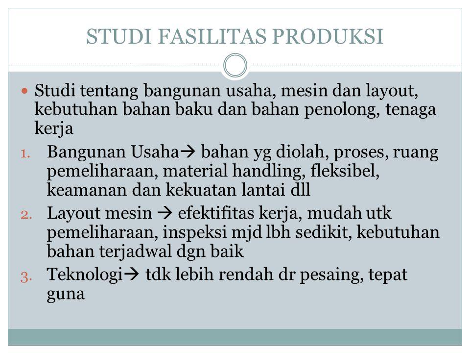 STUDI FASILITAS PRODUKSI