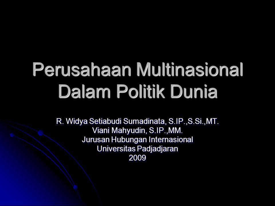 Perusahaan Multinasional Dalam Politik Dunia