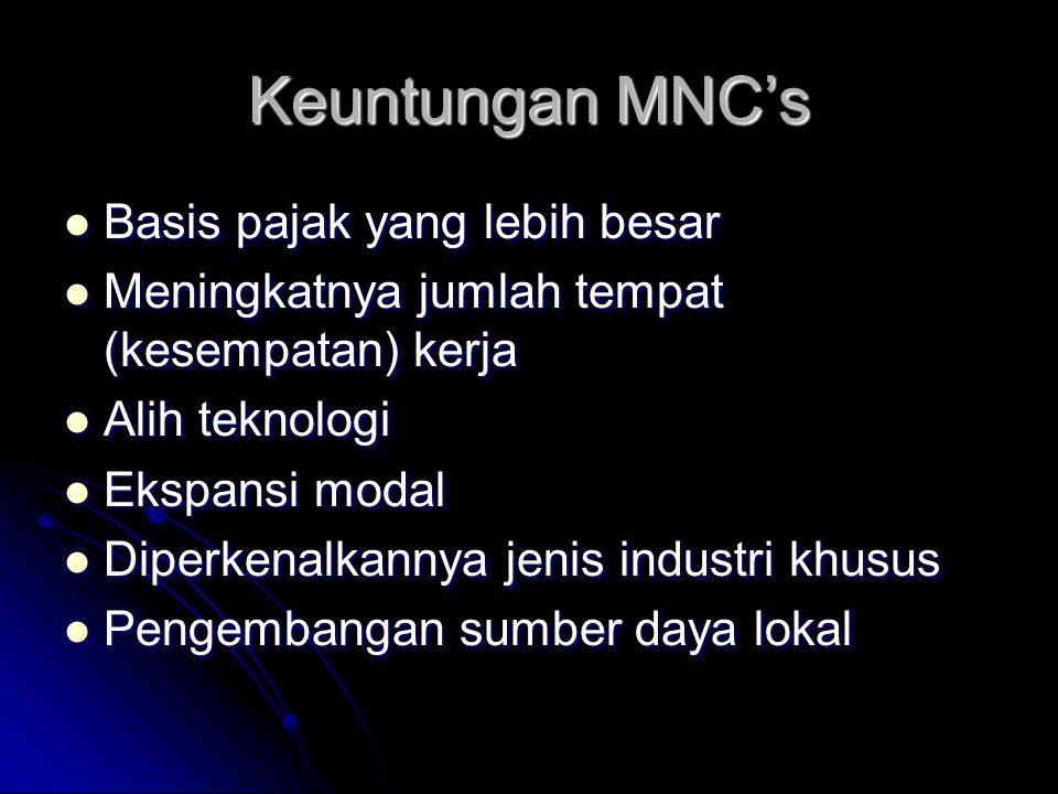 Keuntungan MNC's Basis pajak yang lebih besar