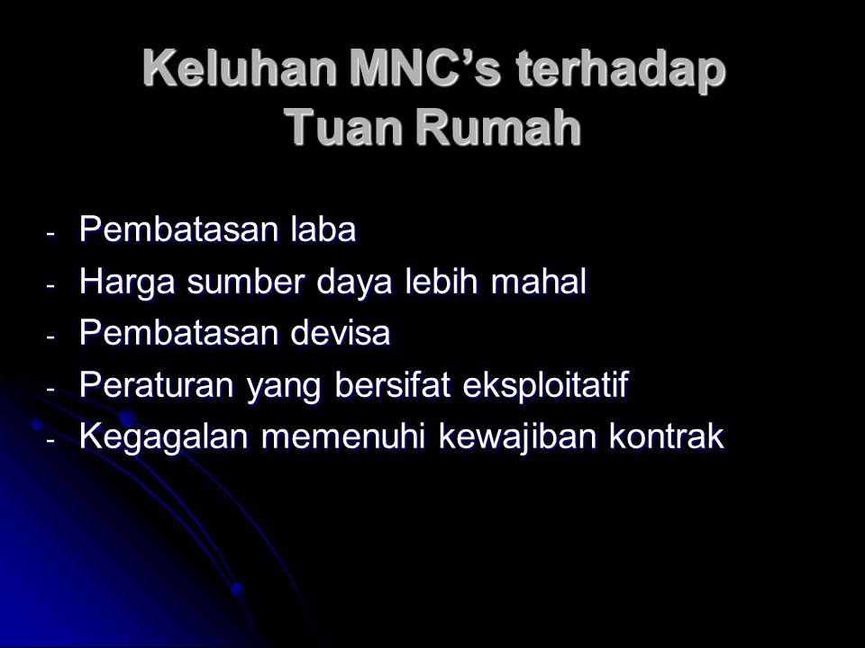 Keluhan MNC's terhadap Tuan Rumah