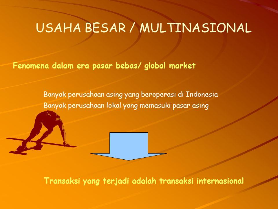 USAHA BESAR / MULTINASIONAL