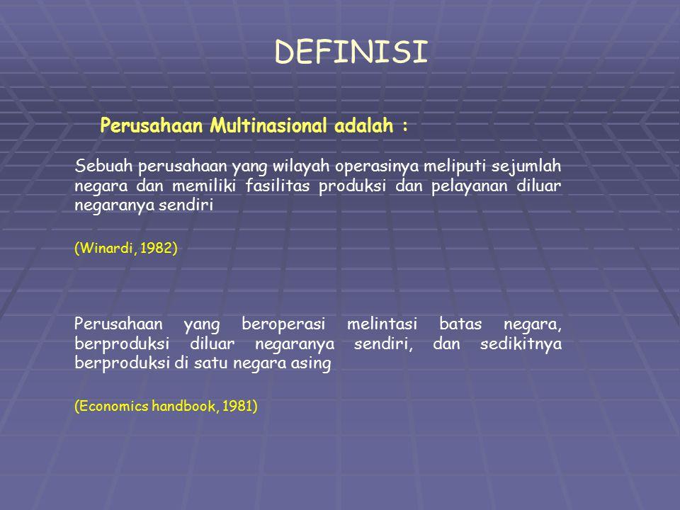 DEFINISI Perusahaan Multinasional adalah :