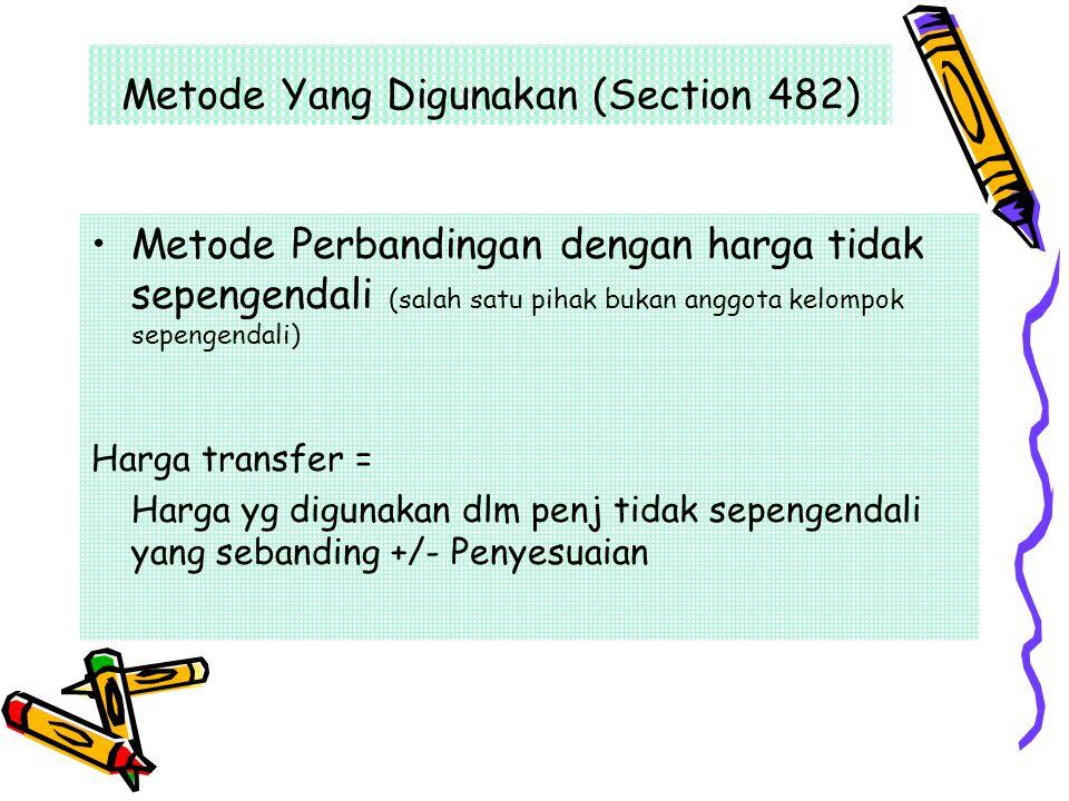 Metode Yang Digunakan (Section 482)