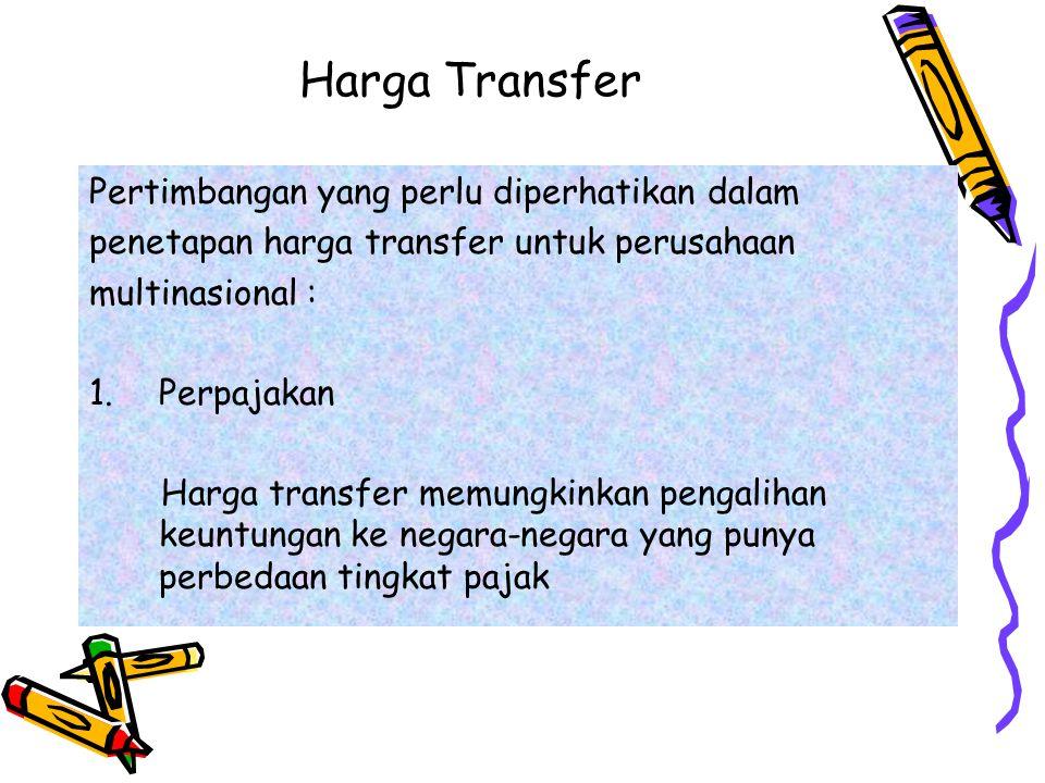 Harga Transfer Pertimbangan yang perlu diperhatikan dalam
