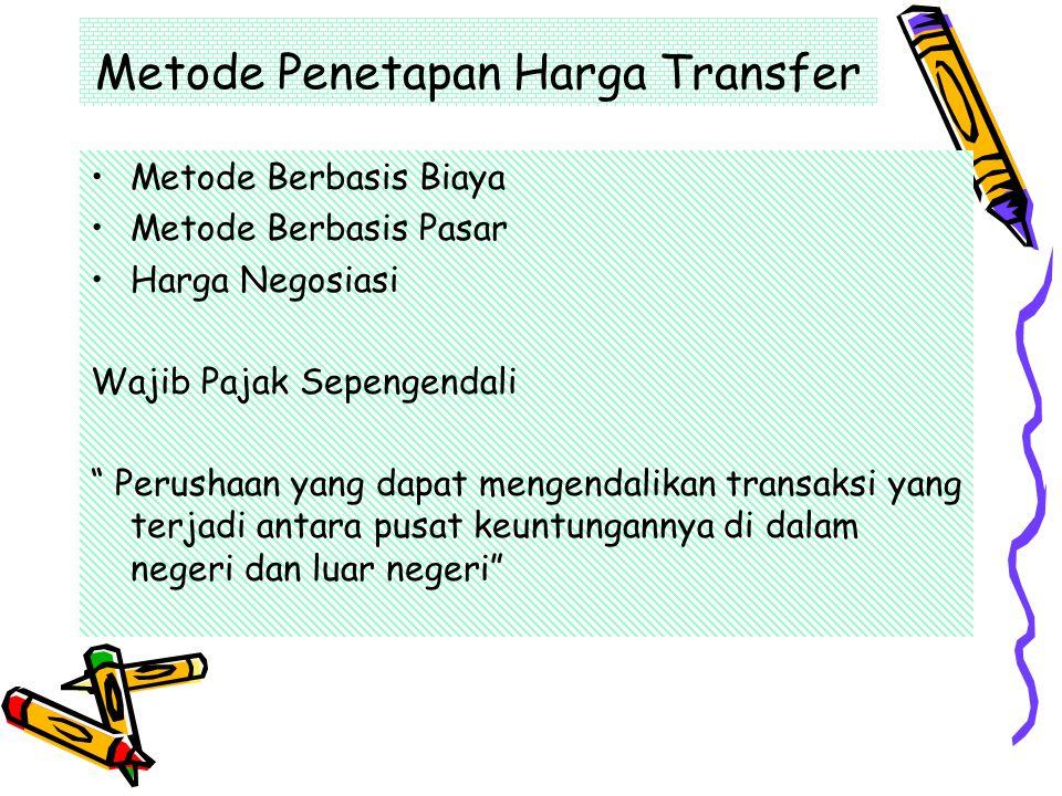 Metode Penetapan Harga Transfer