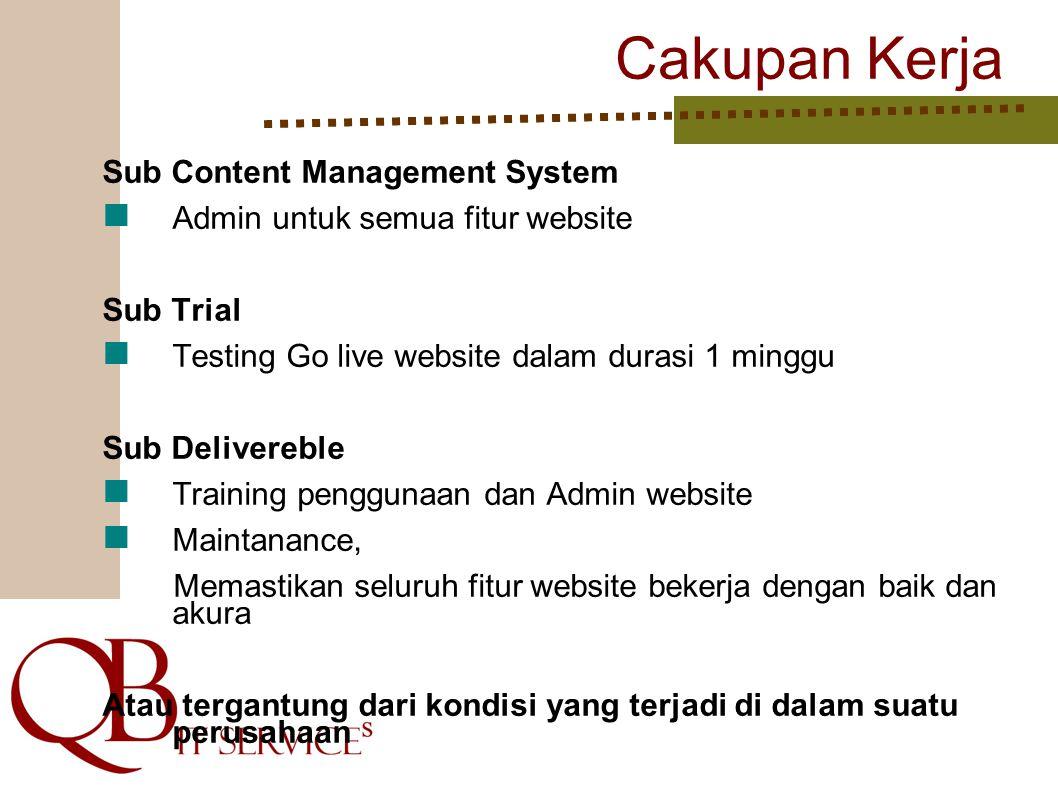 Cakupan Kerja Sub Content Management System