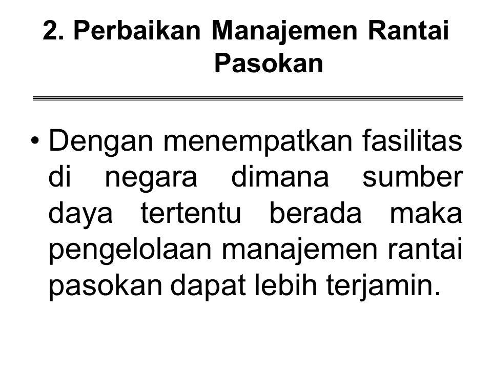2. Perbaikan Manajemen Rantai Pasokan