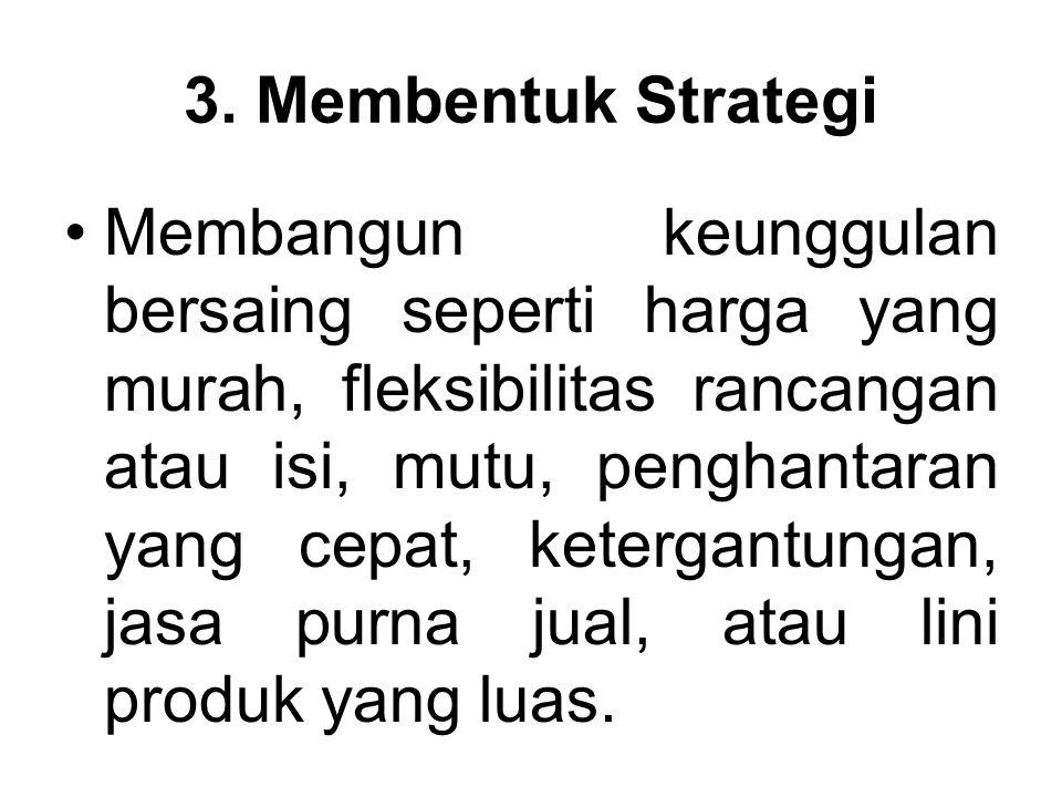 3. Membentuk Strategi
