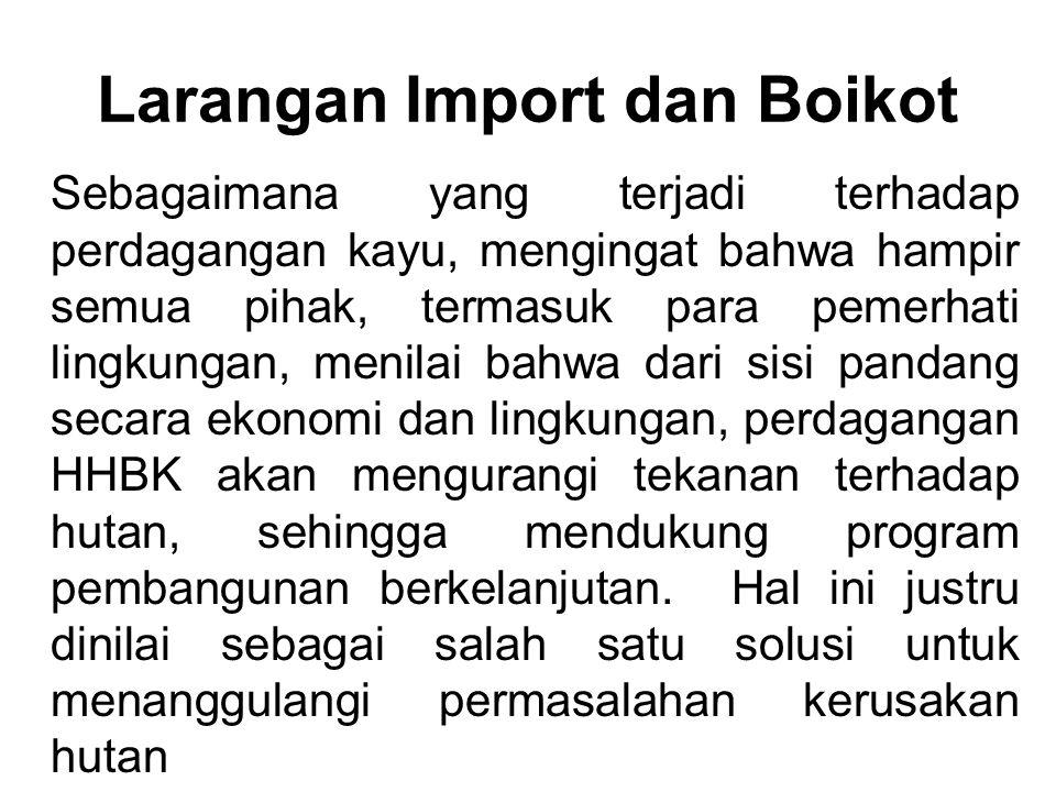 Larangan Import dan Boikot