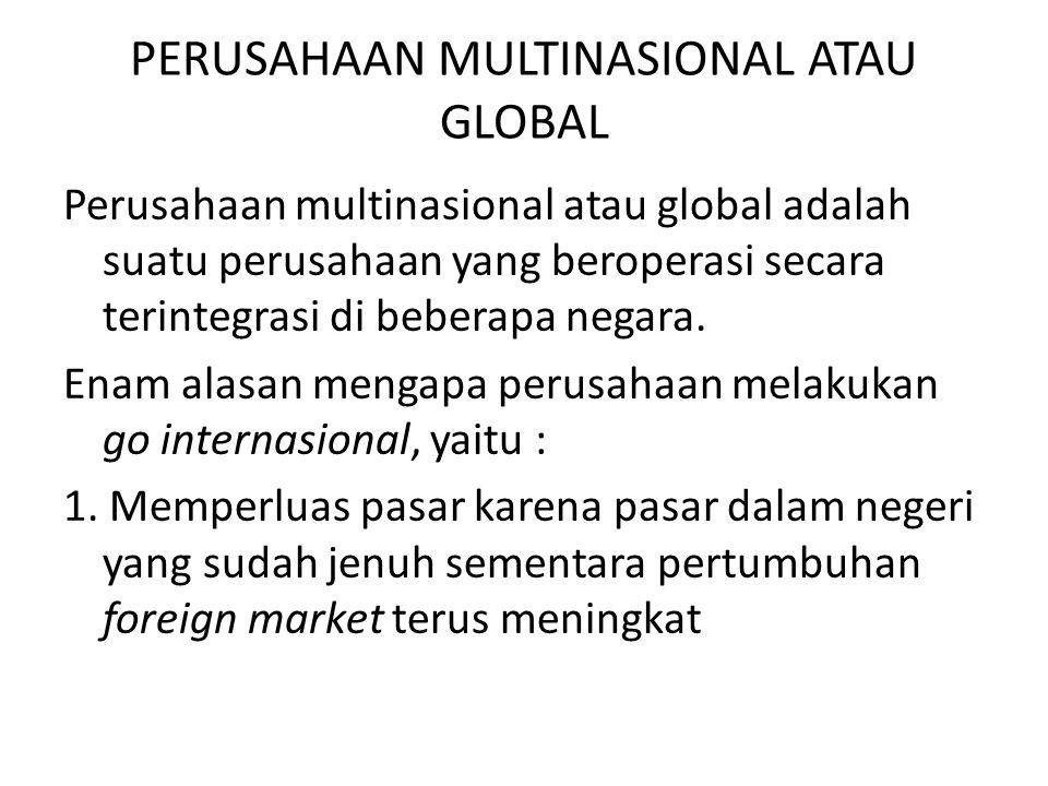 PERUSAHAAN MULTINASIONAL ATAU GLOBAL