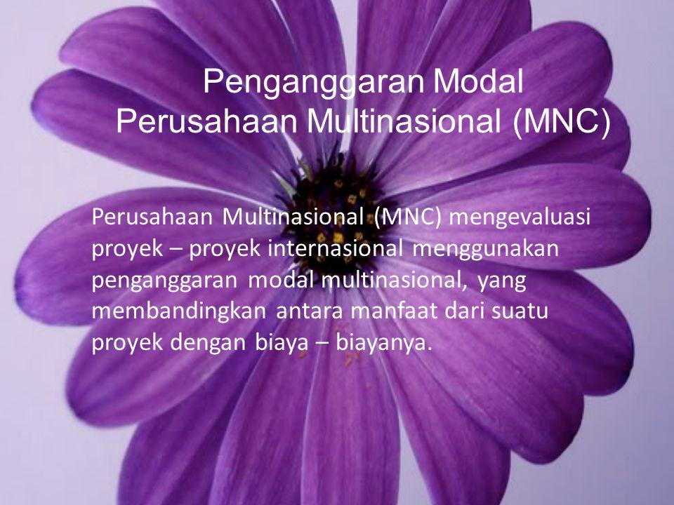 Penganggaran Modal Perusahaan Multinasional (MNC)