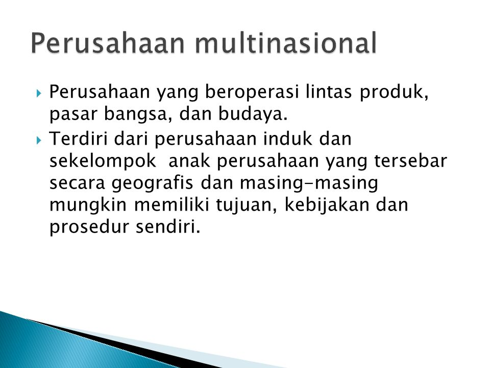 Perusahaan multinasional