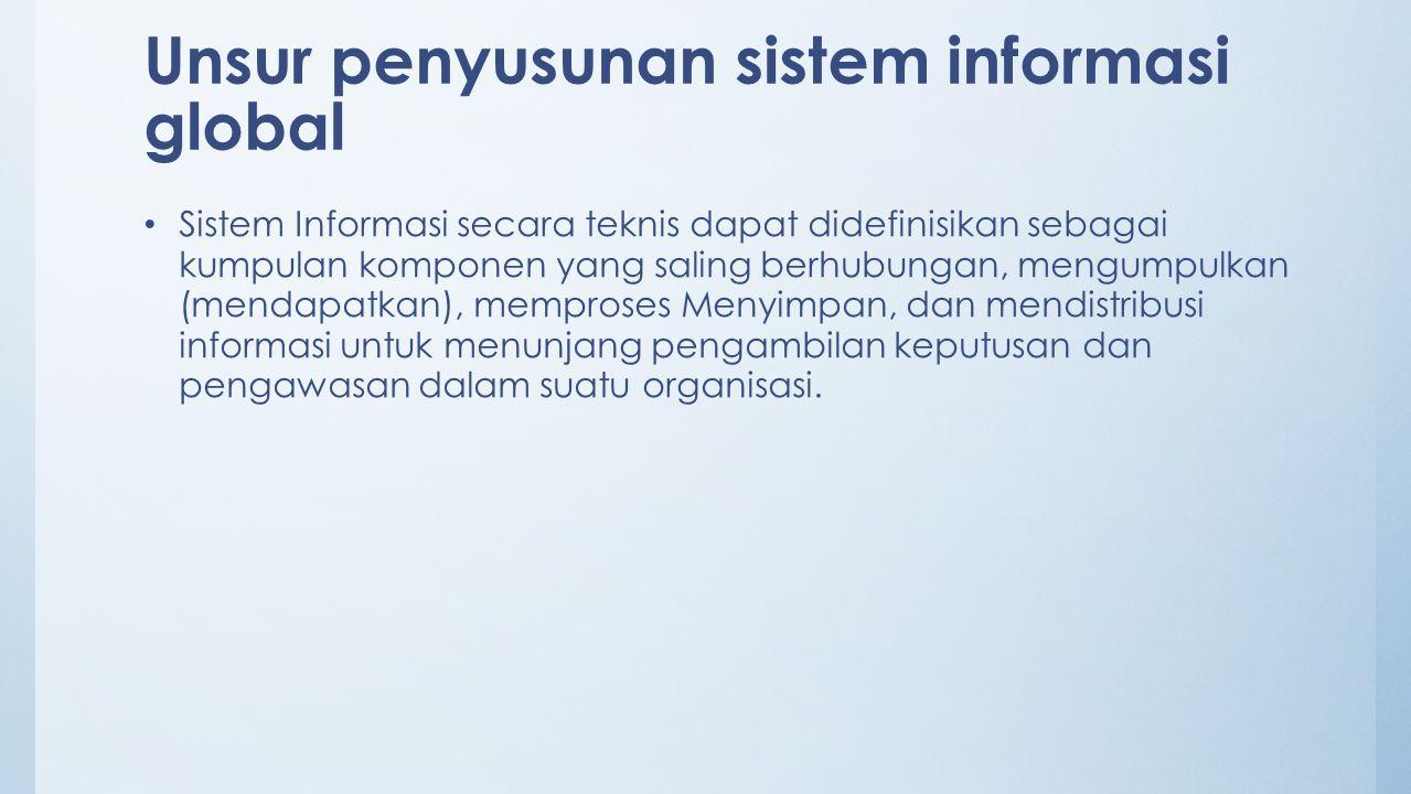 Unsur penyusunan sistem informasi global