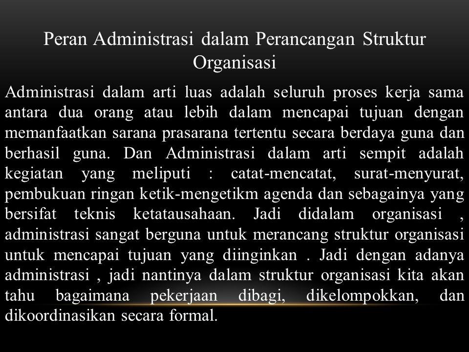 Peran Administrasi dalam Perancangan Struktur Organisasi
