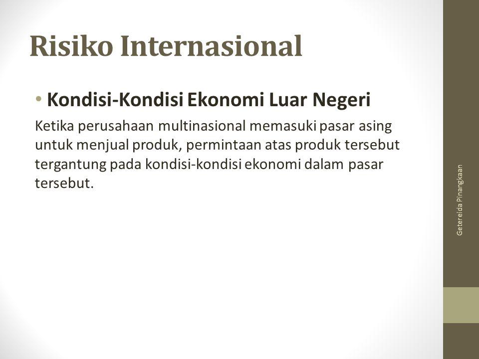 Risiko Internasional Kondisi-Kondisi Ekonomi Luar Negeri
