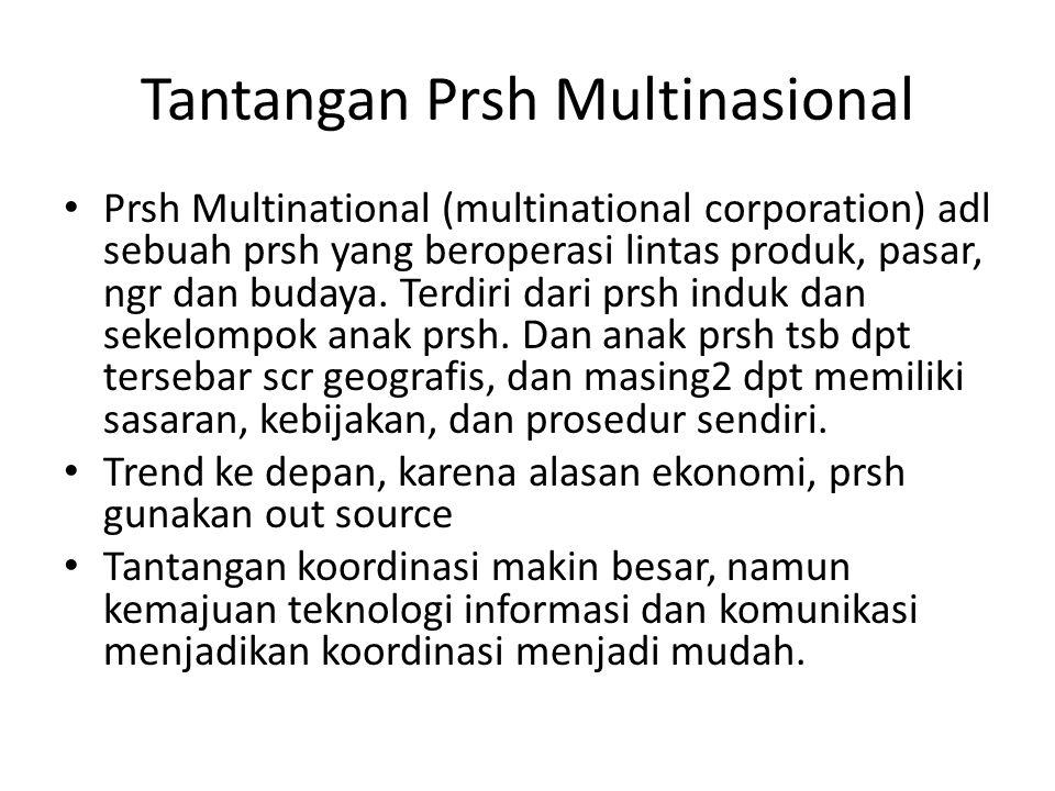 Tantangan Prsh Multinasional