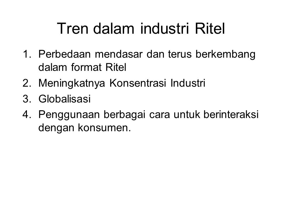 Tren dalam industri Ritel