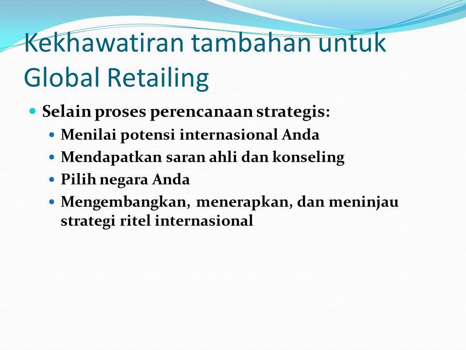 Kekhawatiran tambahan untuk Global Retailing