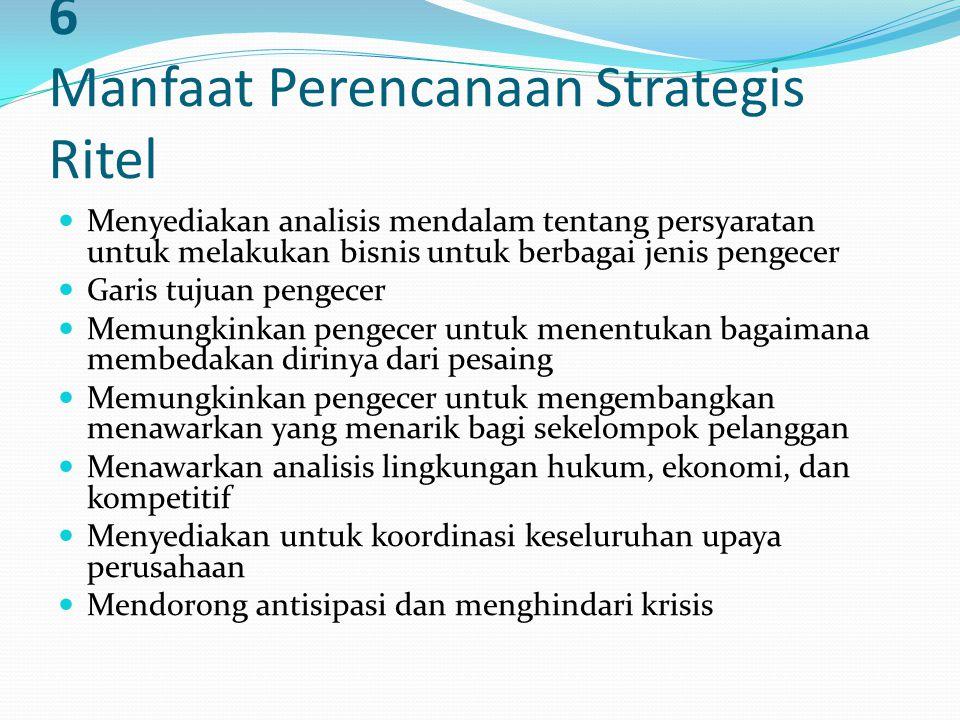 6 Manfaat Perencanaan Strategis Ritel