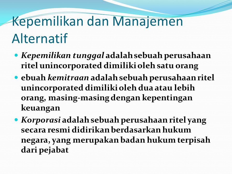 Kepemilikan dan Manajemen Alternatif