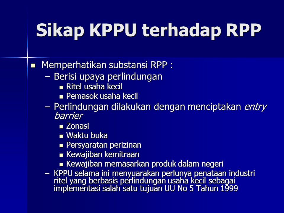Sikap KPPU terhadap RPP