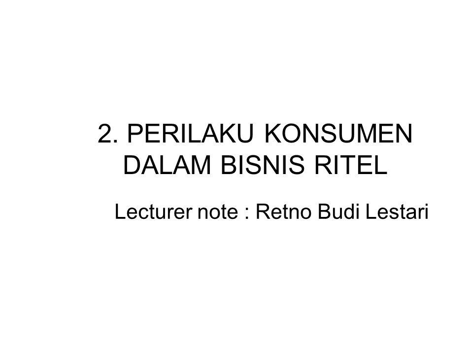 2. PERILAKU KONSUMEN DALAM BISNIS RITEL
