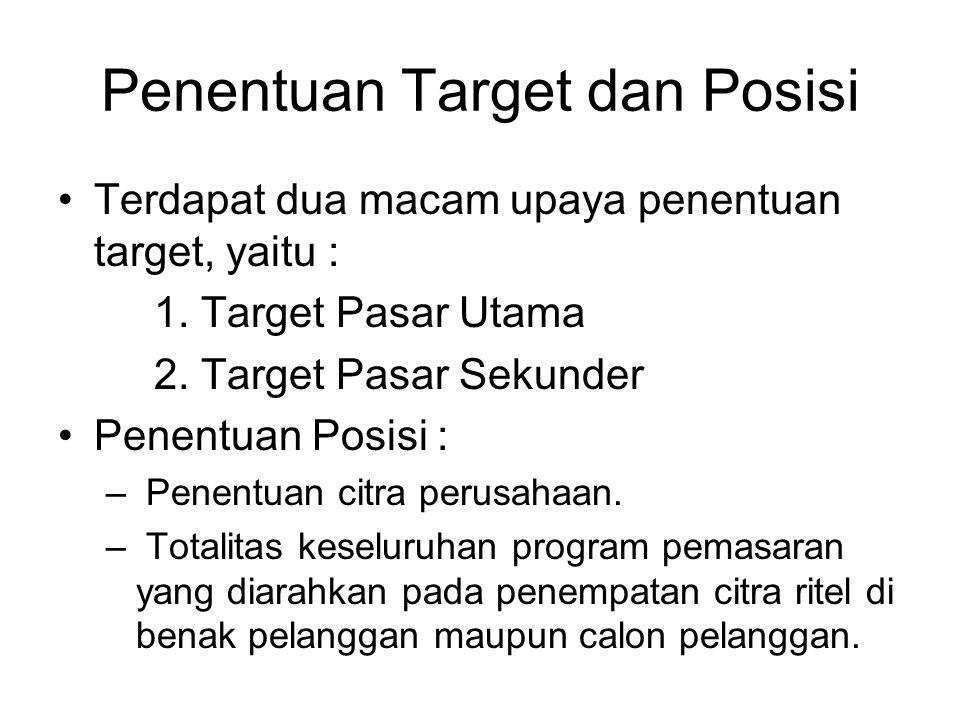 Penentuan Target dan Posisi