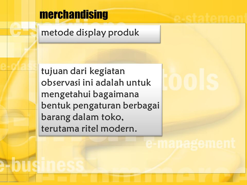 merchandising metode display produk