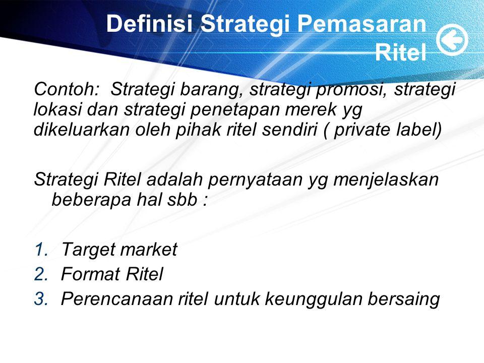 Definisi Strategi Pemasaran Ritel