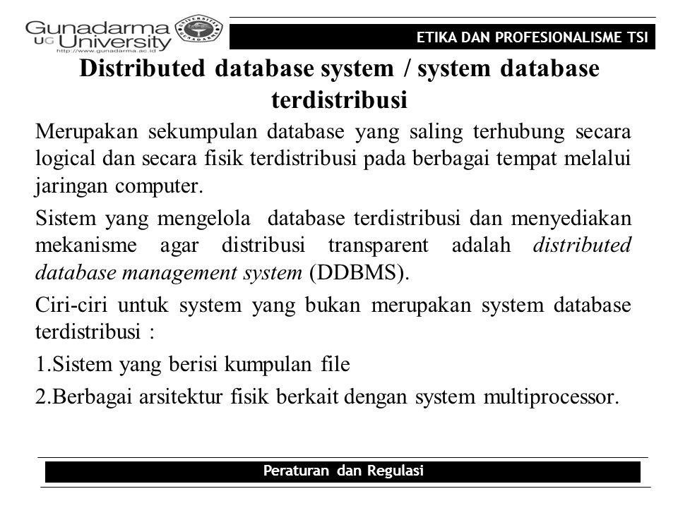 Distributed database system / system database terdistribusi
