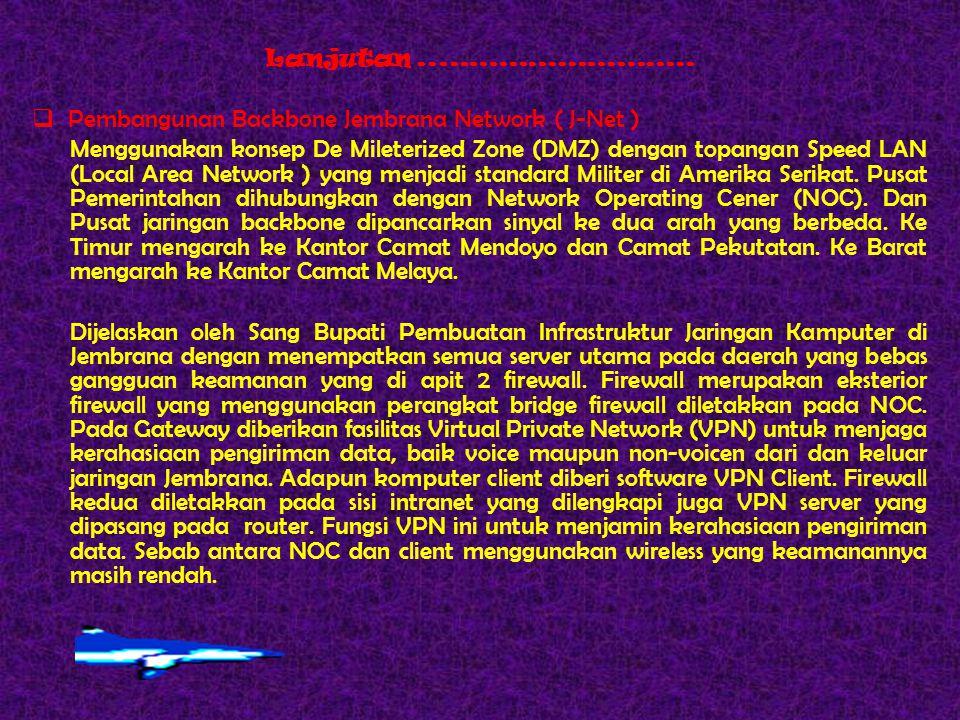 Pembangunan Backbone Jembrana Network ( J-Net )