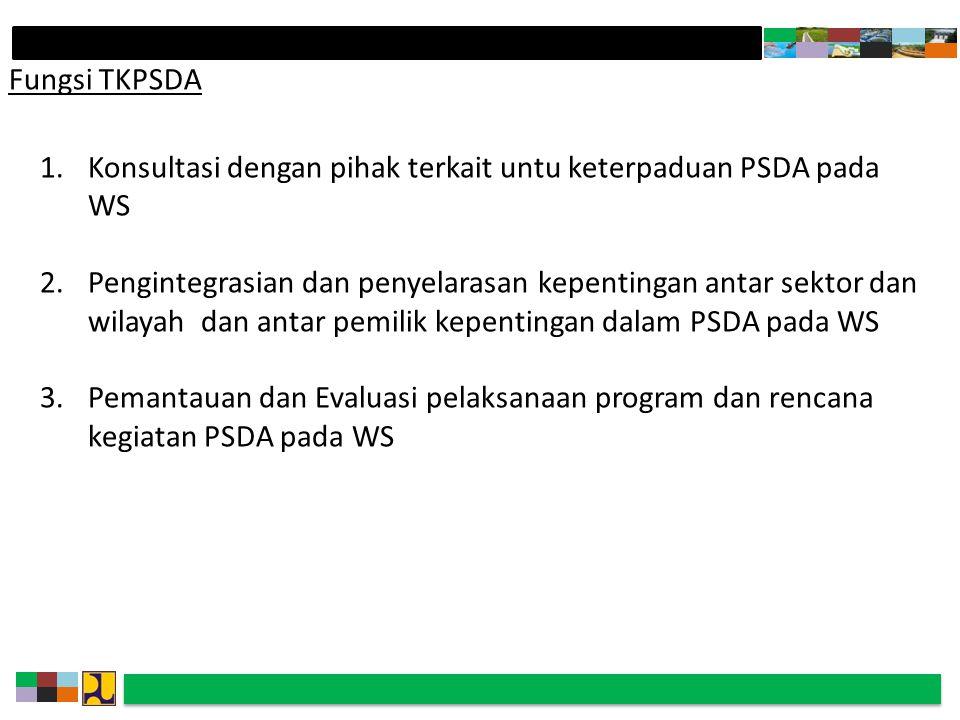 Fungsi TKPSDA Konsultasi dengan pihak terkait untu keterpaduan PSDA pada WS.