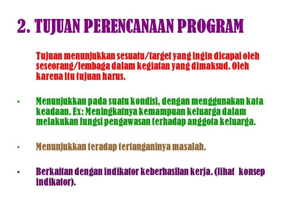 2. TUJUAN PERENCANAAN PROGRAM
