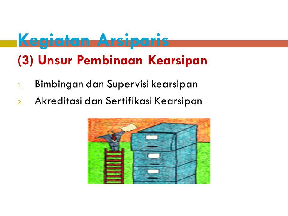 Kegiatan Arsiparis (3) Unsur Pembinaan Kearsipan
