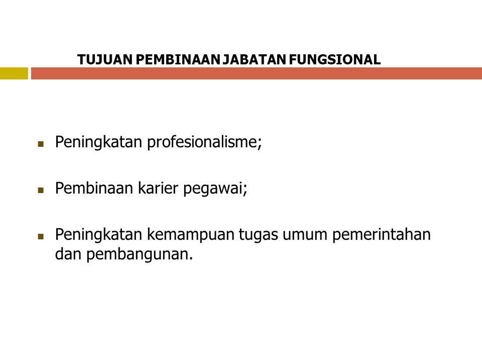 Peningkatan profesionalisme; Pembinaan karier pegawai;