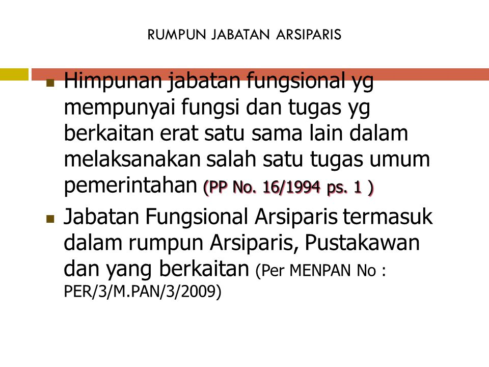 RUMPUN JABATAN ARSIPARIS