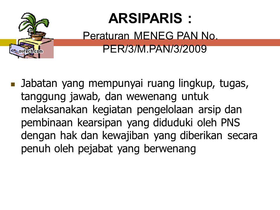 Peraturan MENEG PAN No. PER/3/M.PAN/3/2009